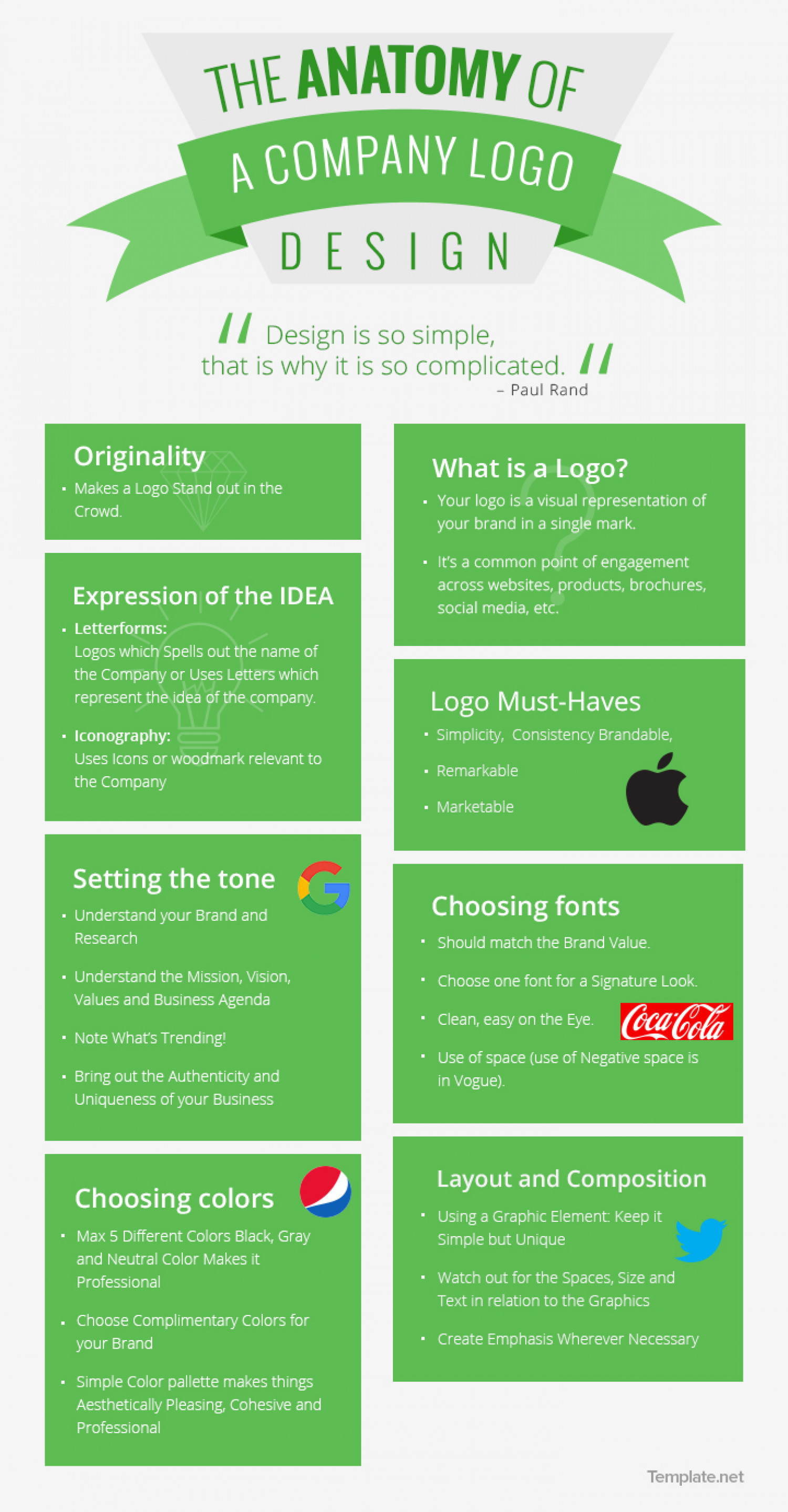 Anatomy of a Company Logo Infographic
