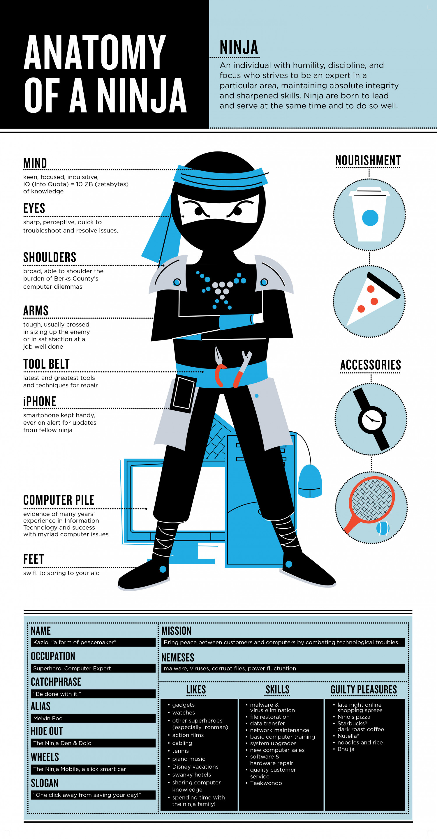 Anatomy of a PC Ninja Infographic