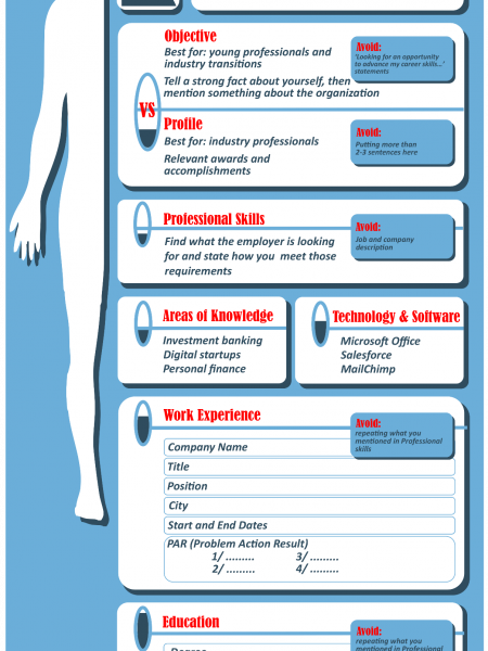 Anatomy of a Resume, how to decode and understand Infographic
