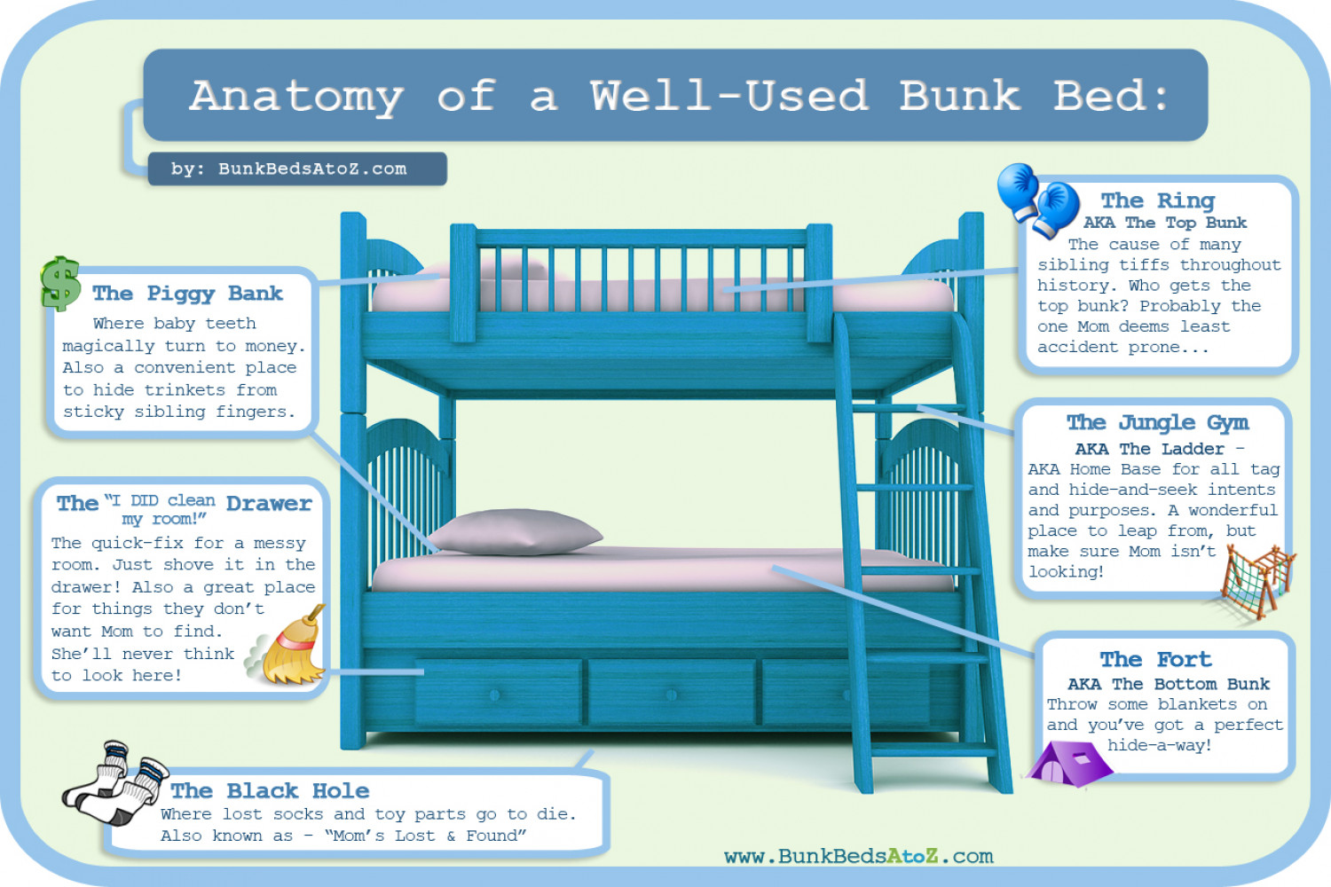 Anatomy Of A Well Used Bunk Bed Visual