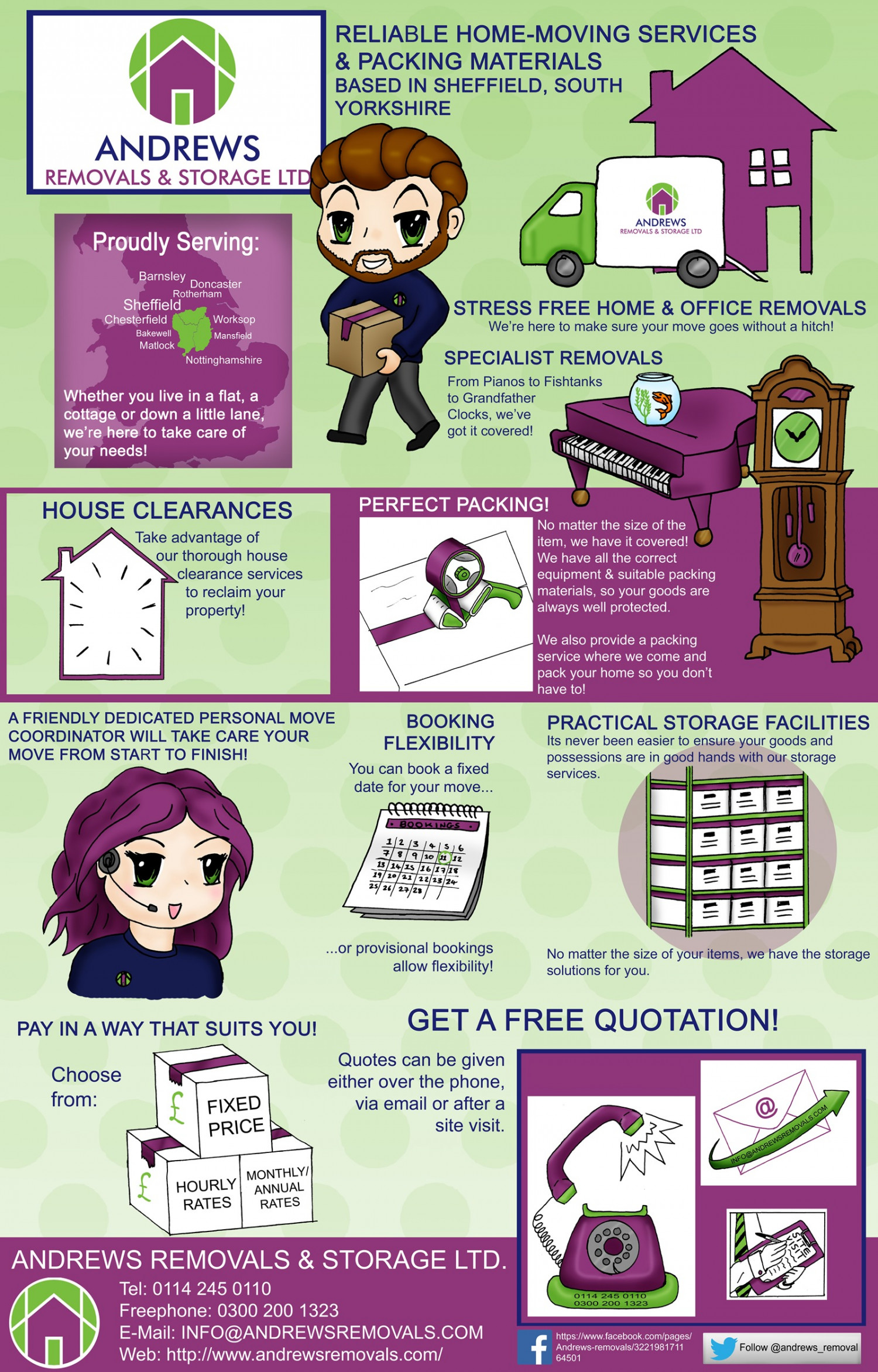 Andrews Removals Infographic Infographic