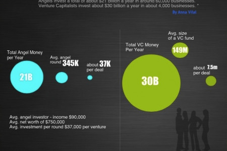 Angels vs. Venture Capitalists Infographic