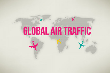 Animated Infographic about Air Traffic Stats Infographic