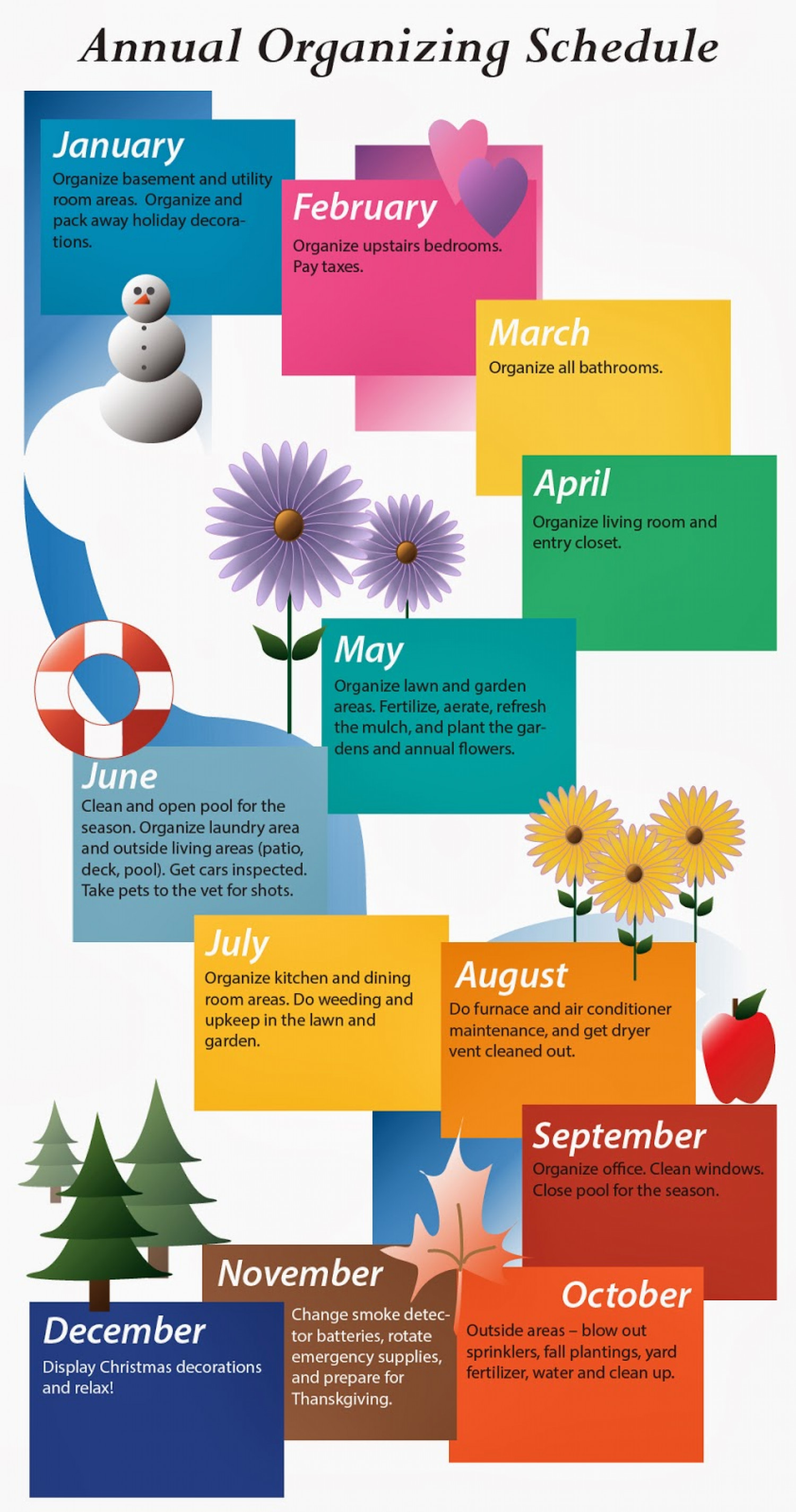 Annual Organizing Schedule Infographic