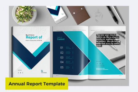 Annual Report Templates Word Infographic
