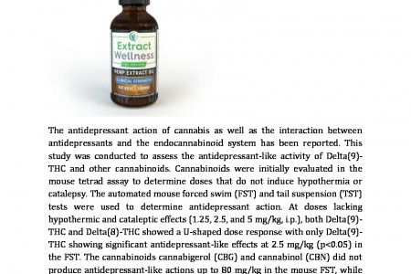 Antidepressant-like effect of THC and CBD Infographic