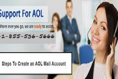 AOL Customer Support Number +1-855-536-5666 Infographic