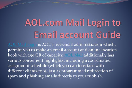 AOL.com Mail Login to Email account Guide  Infographic