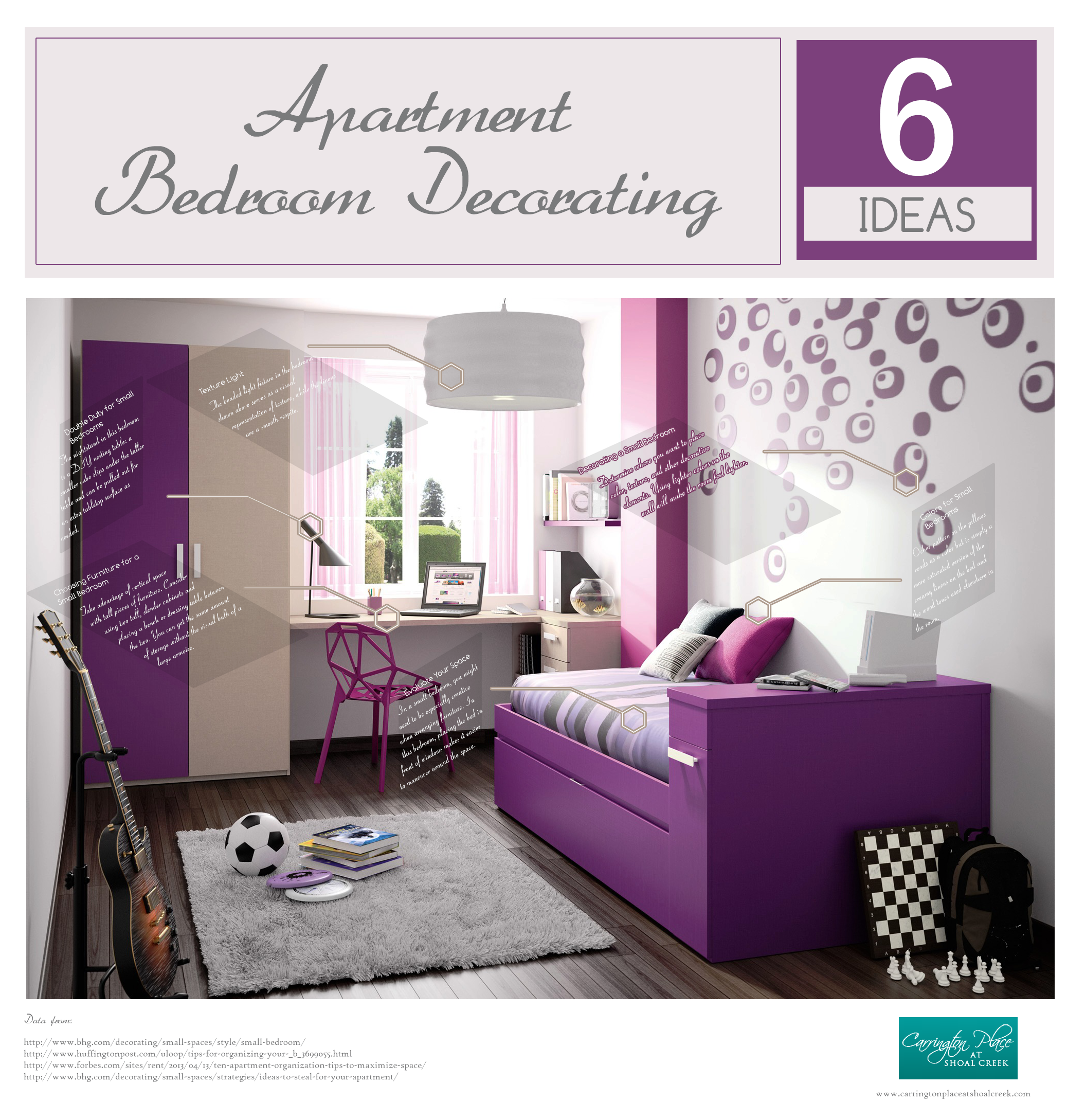 Small Apartment Bedroom Decorating Ideas stunning 20+ purple apartment ideas decorating design of purple