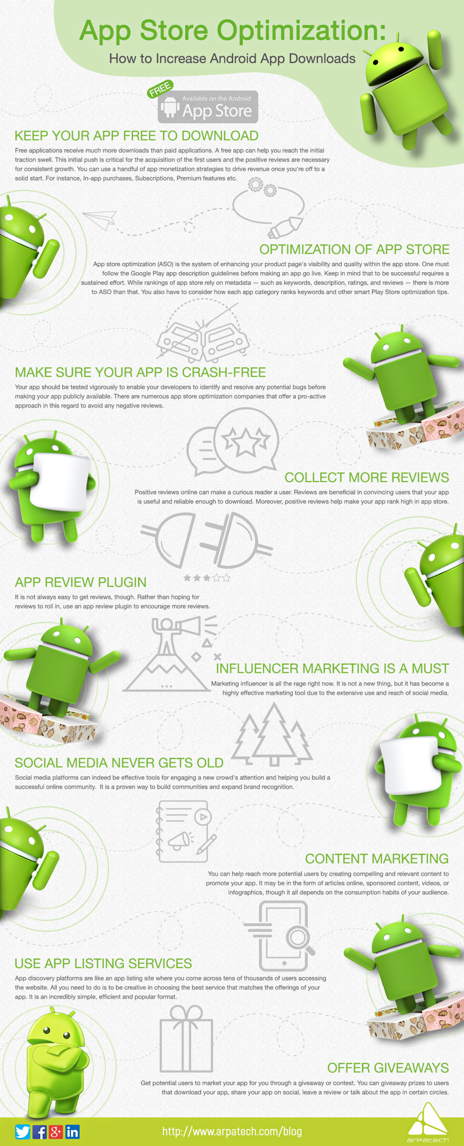 App Store Optimization: How To Increase Android App Downloads Infographic