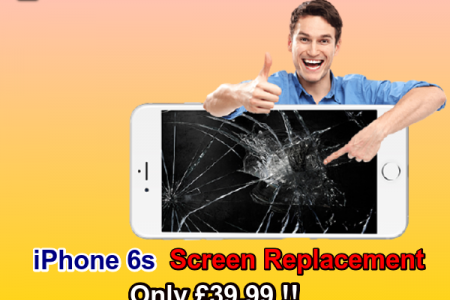 Apple iPhone 6s Screen Repairs Replacement Service Infographic