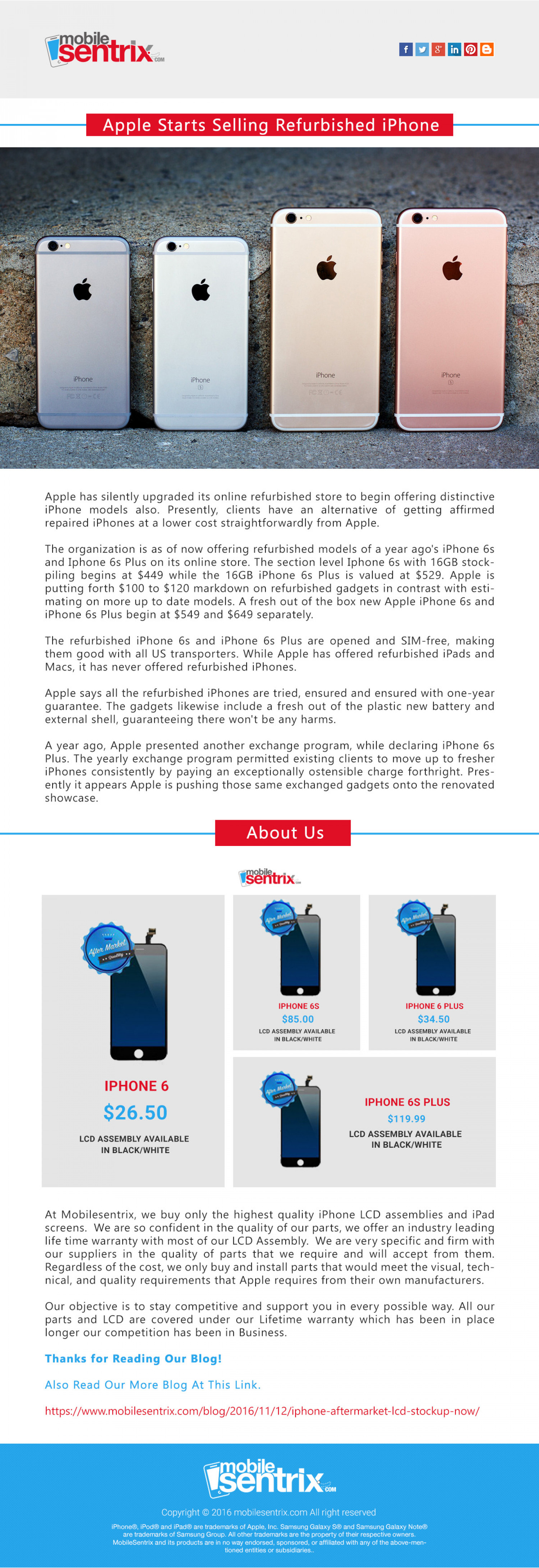 Apple Starts Selling Refurbished iPhone Infographic