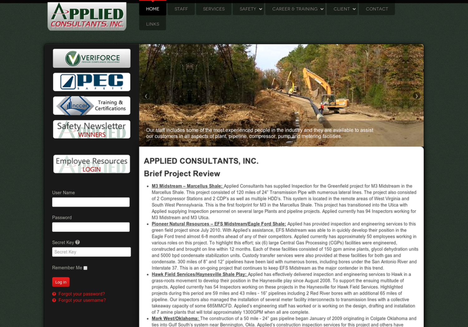 APPLIED CONSULTANTS, INC. – Brief Project Review Infographic