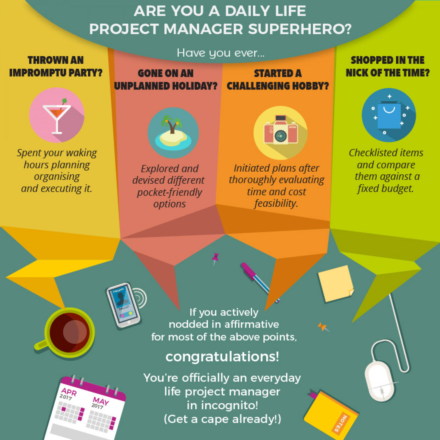 Are you a daily life project manager superhero? Infographic