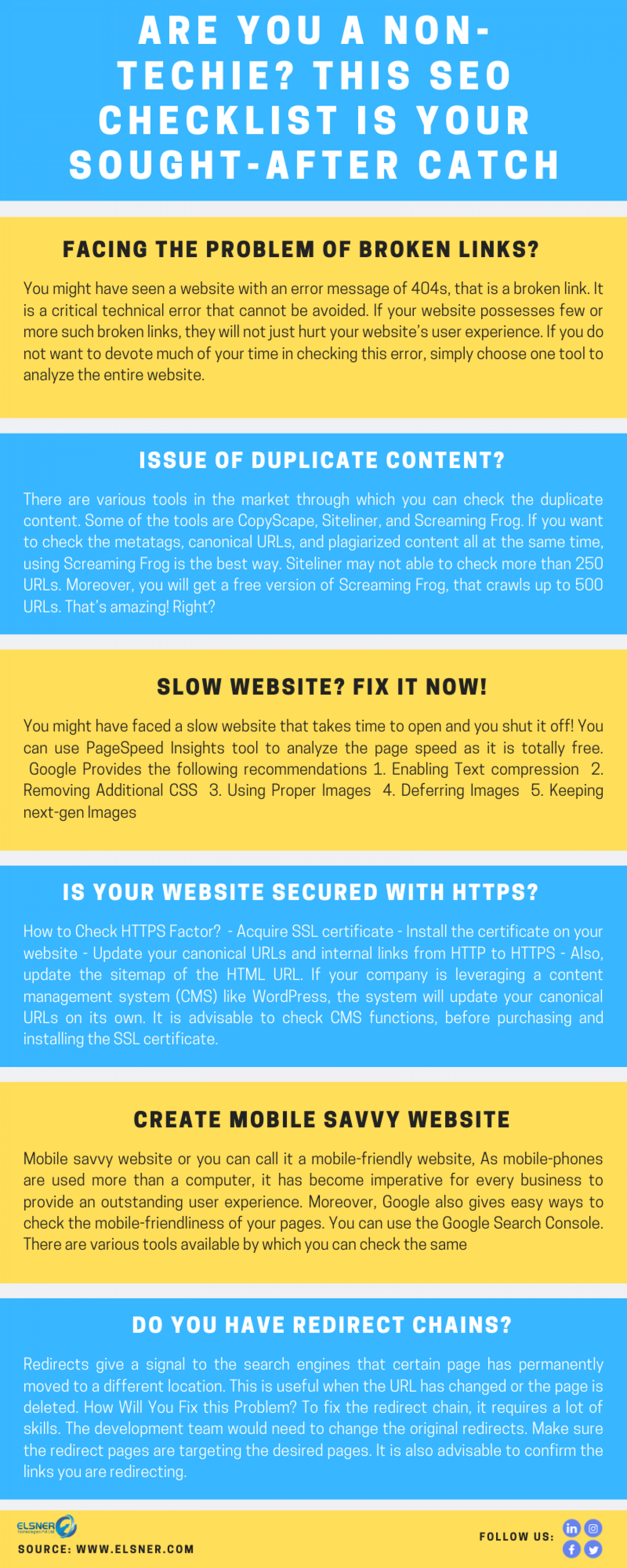 Are You a Non-techie? This SEO Checklist is Your Sought-after Catch Infographic