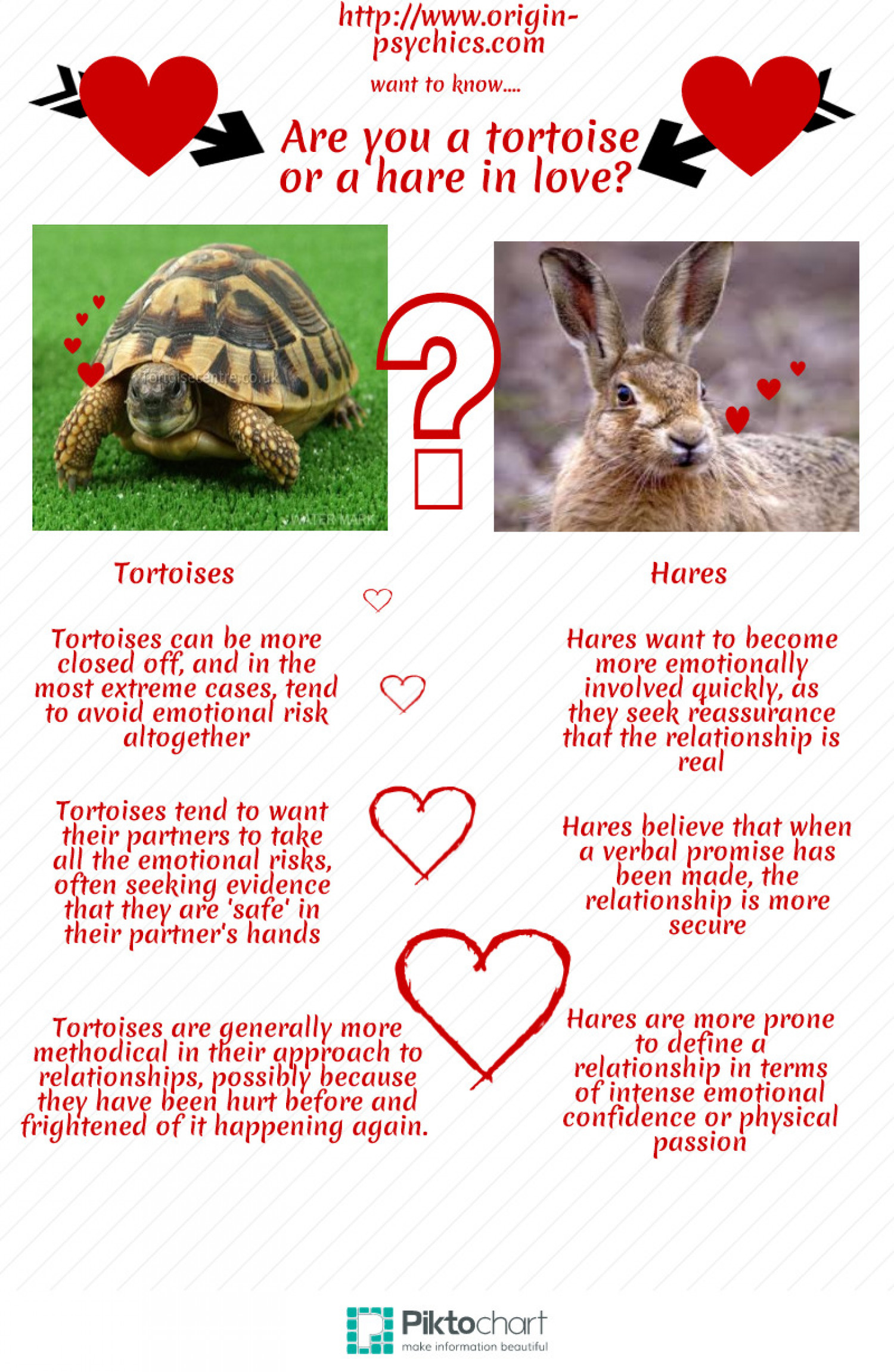 Are You A Tortoise or a Hare In Love? Infographic