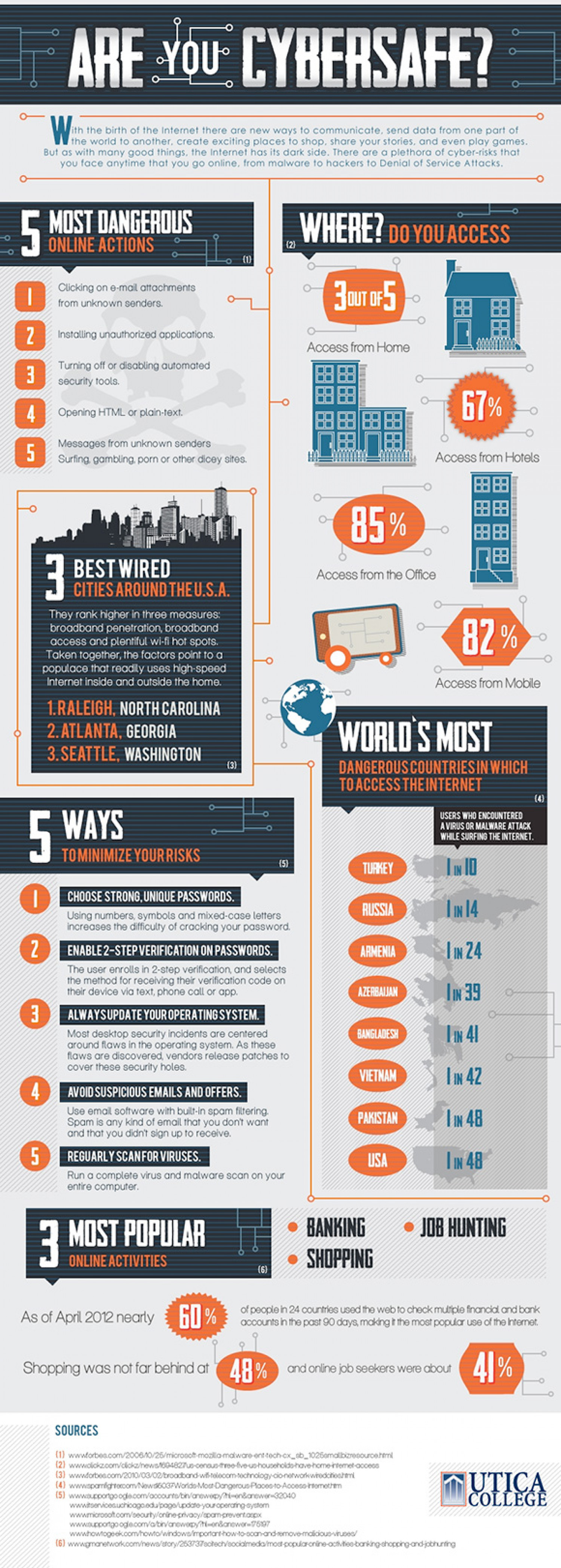 Are You Cyber Safe?  Infographic