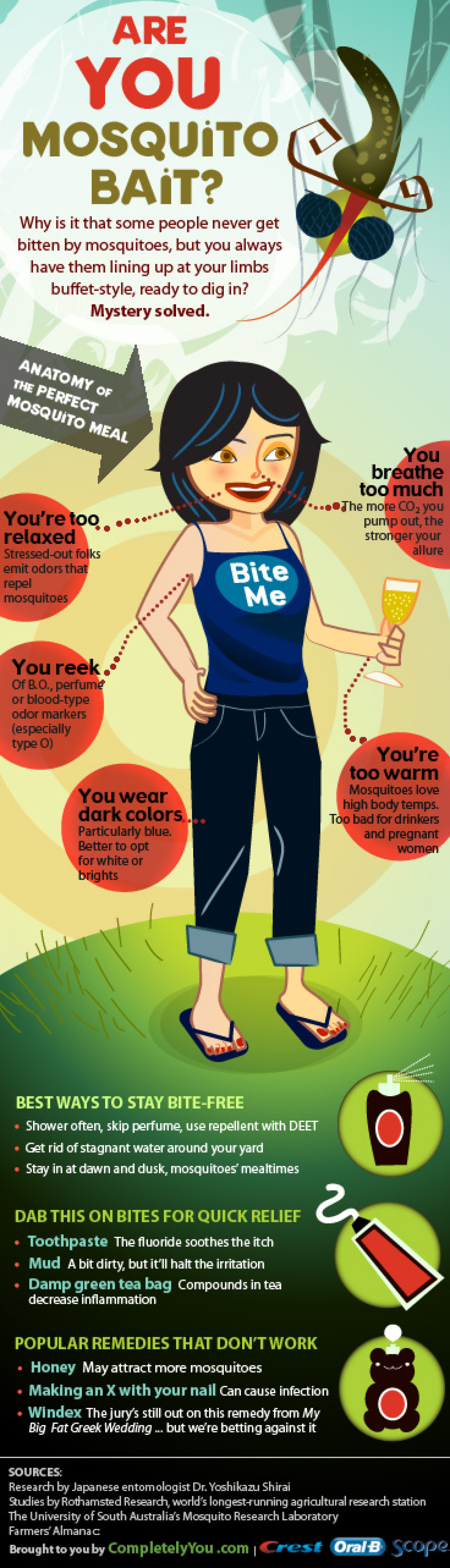 Are You Mosquito Bait? Infographic