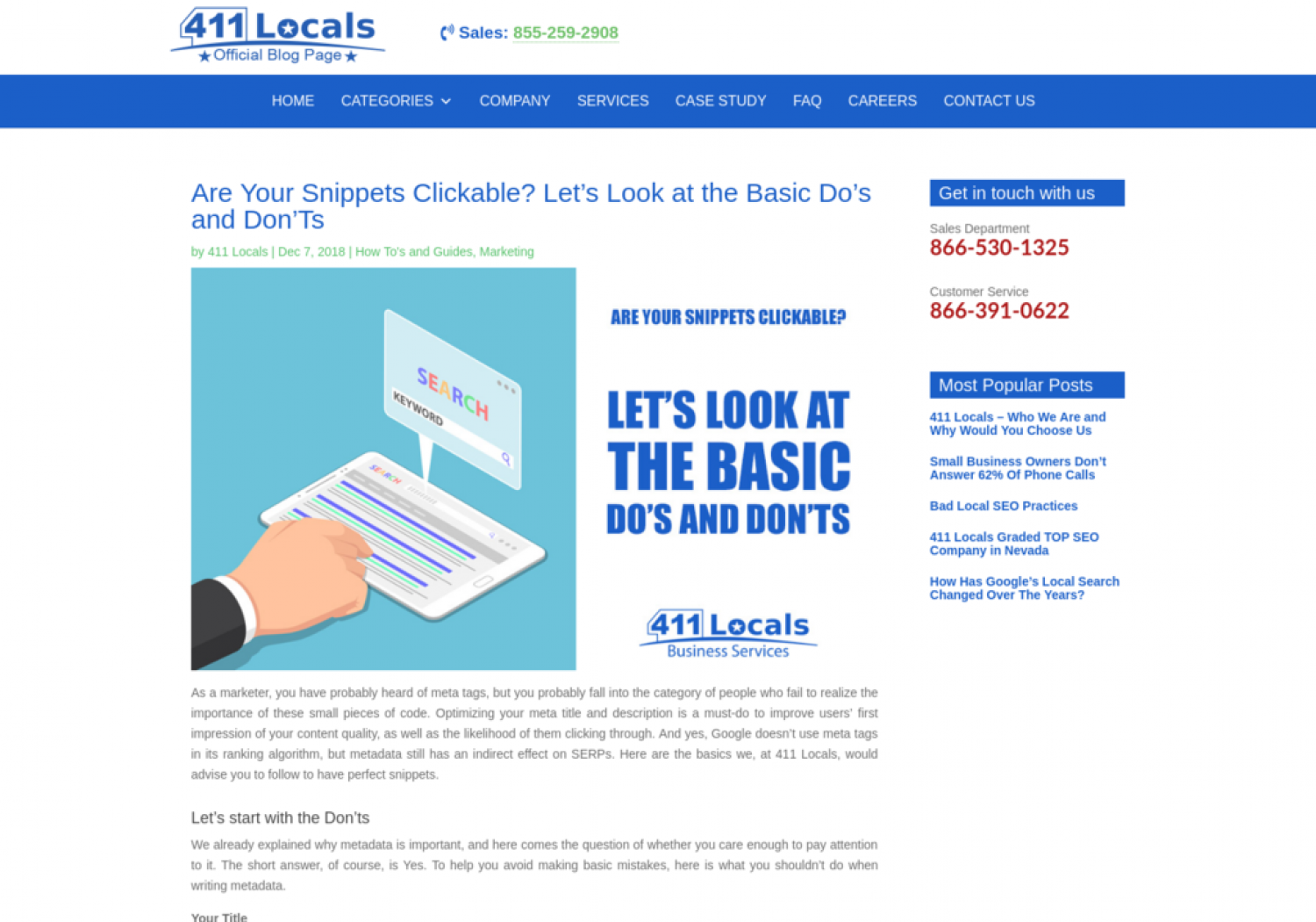 Are Your Snippets Clickable? Let's Look at the Basic Do's and Don'Ts Infographic