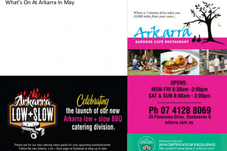 Arkarra May Events Flyer Infographic