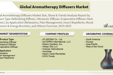 Aromatherapy Diffusers Market Size, Share, Trends, Analysis and Forecast 2019-2025 Infographic
