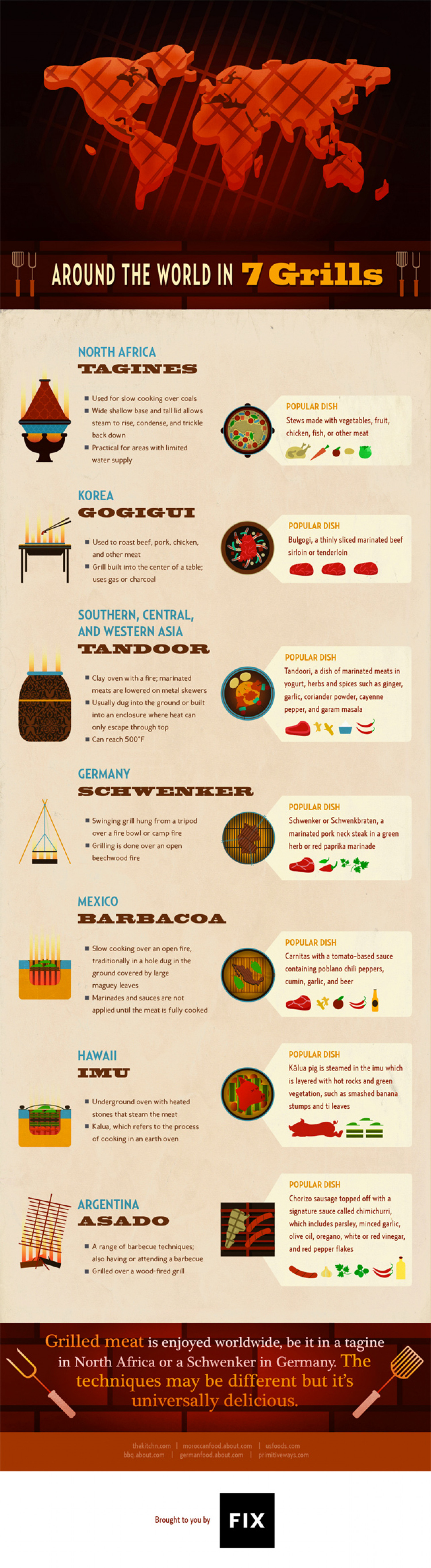 Around the World in 7 Grills Infographic