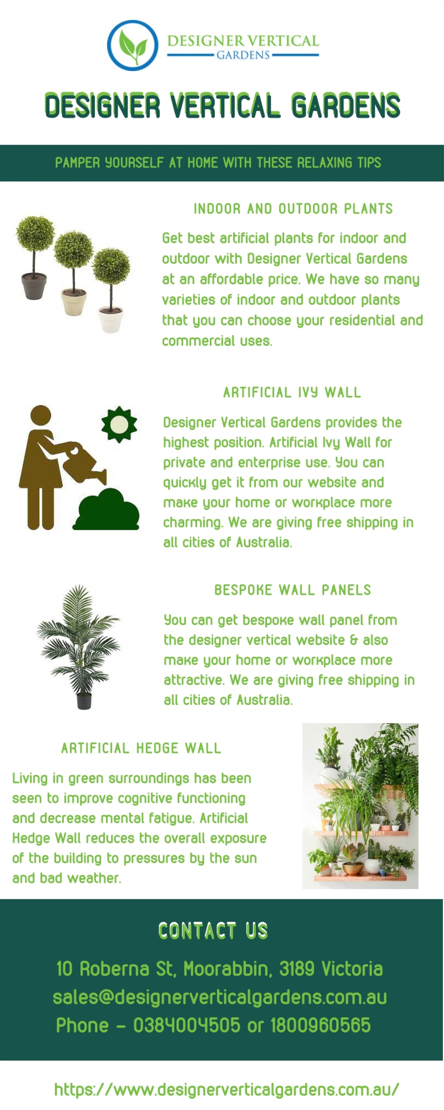 Artificial Ivy Garlands in Australia Infographic