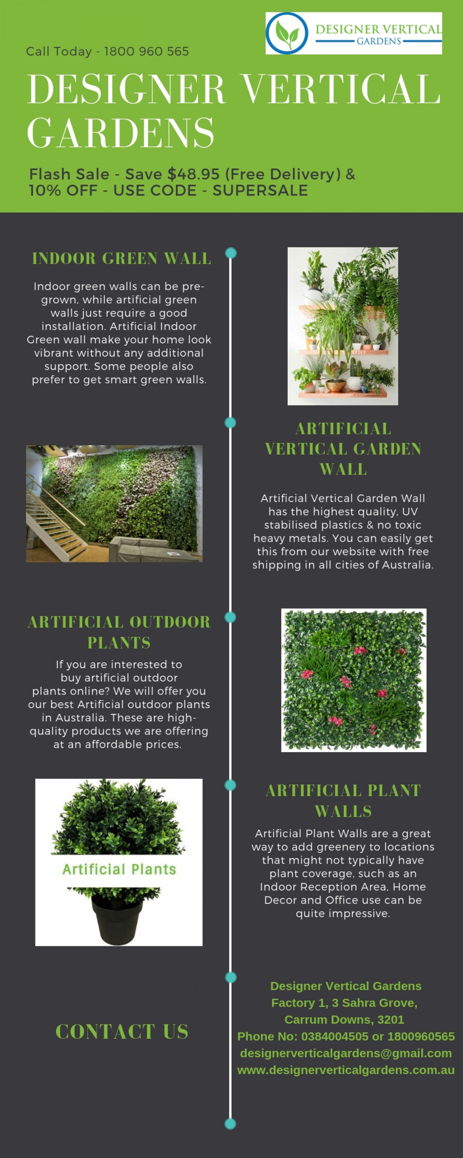 Artificial Outdoor Plants in Melbourne Infographic