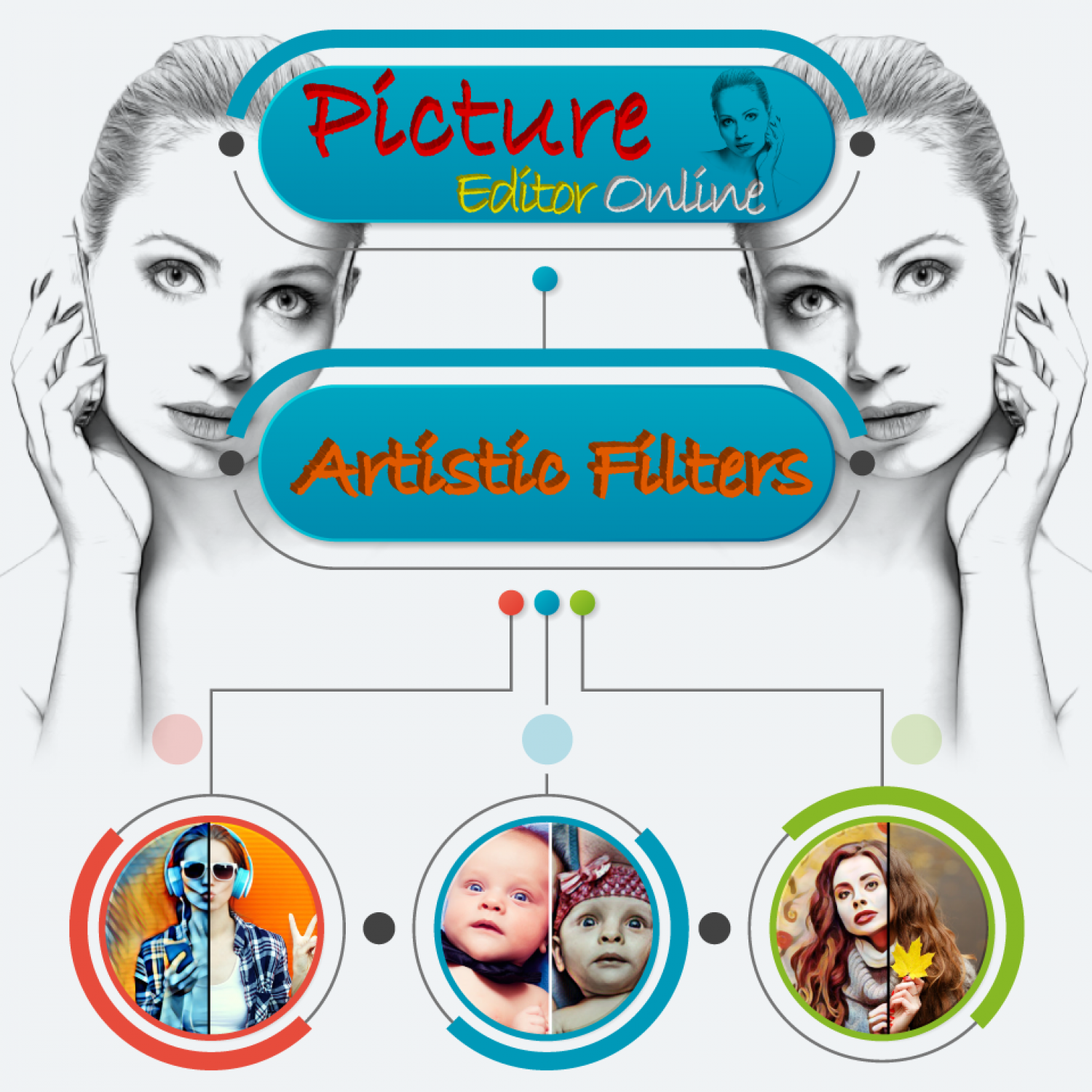 Artistic Filters is a huge library of beautiful artworks. Infographic