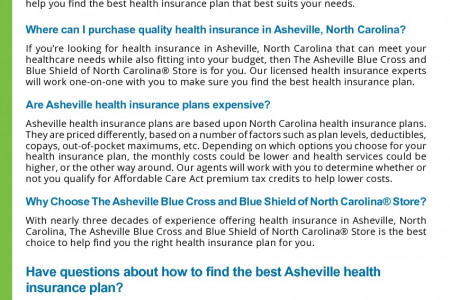 Asheville Health Insurance 101 Infographic