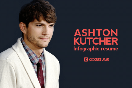 Ashton Kutcher's Infographic Resume Proves He's One of the Most Successful Technology Investors Infographic
