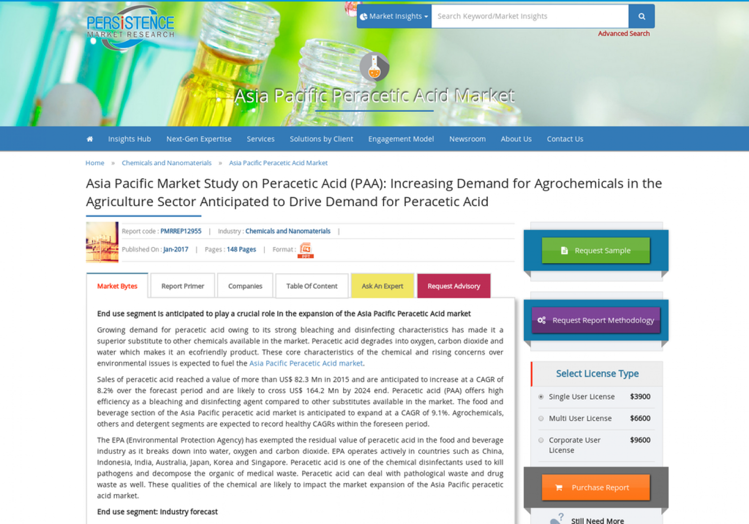 Asia Pacific Peracetic Acid Market Size to Witness a CAGR Growth of 8% by 2024 Infographic