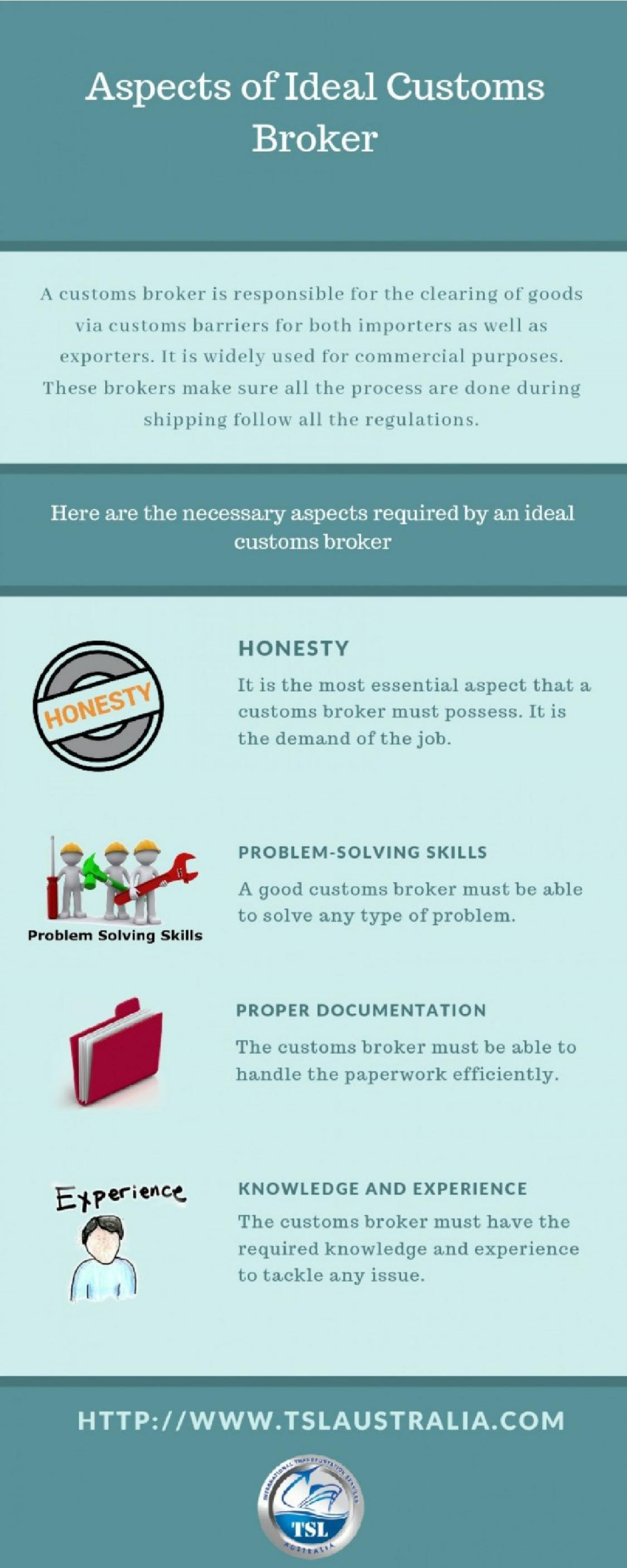 Aspects of Ideal Customs Broker Infographic