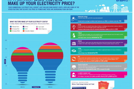 At a Glance What Factors Make Up Your Energy Price Infographic