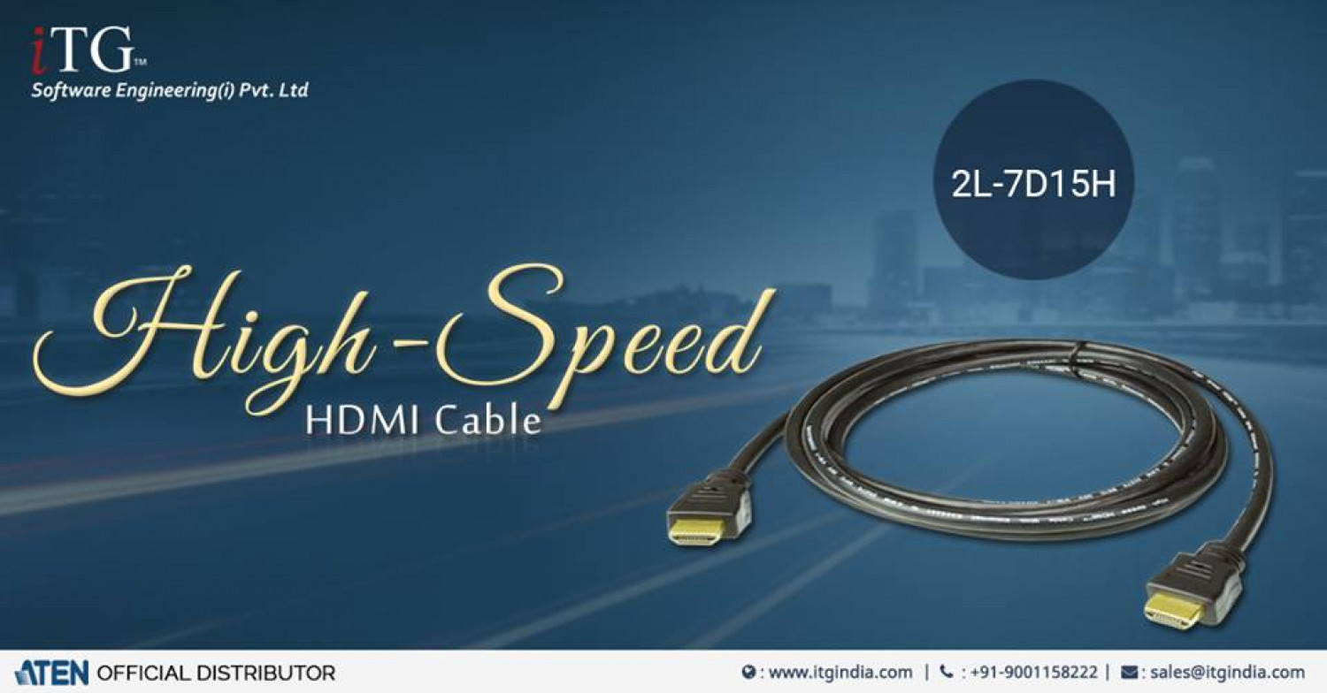 ATEN 2L-7D15H - 15m HDMI Cable - Video Extender - iTG India Infographic