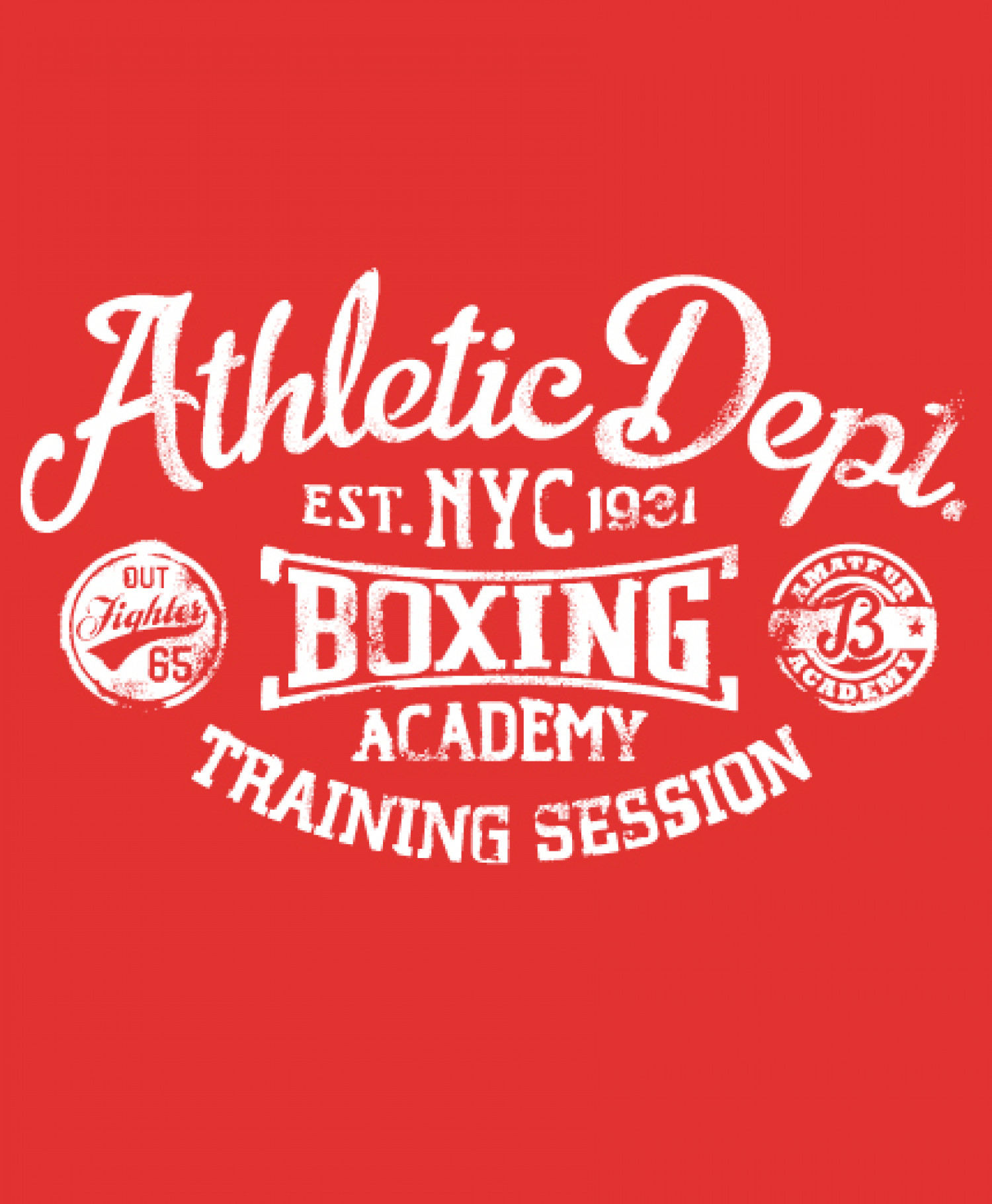 Athletic Dept Boxing Design Infographic