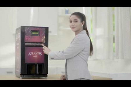 Atlantis Cafe Plus (3 or 4 Option) Tea Coffee Vending Machine Infographic