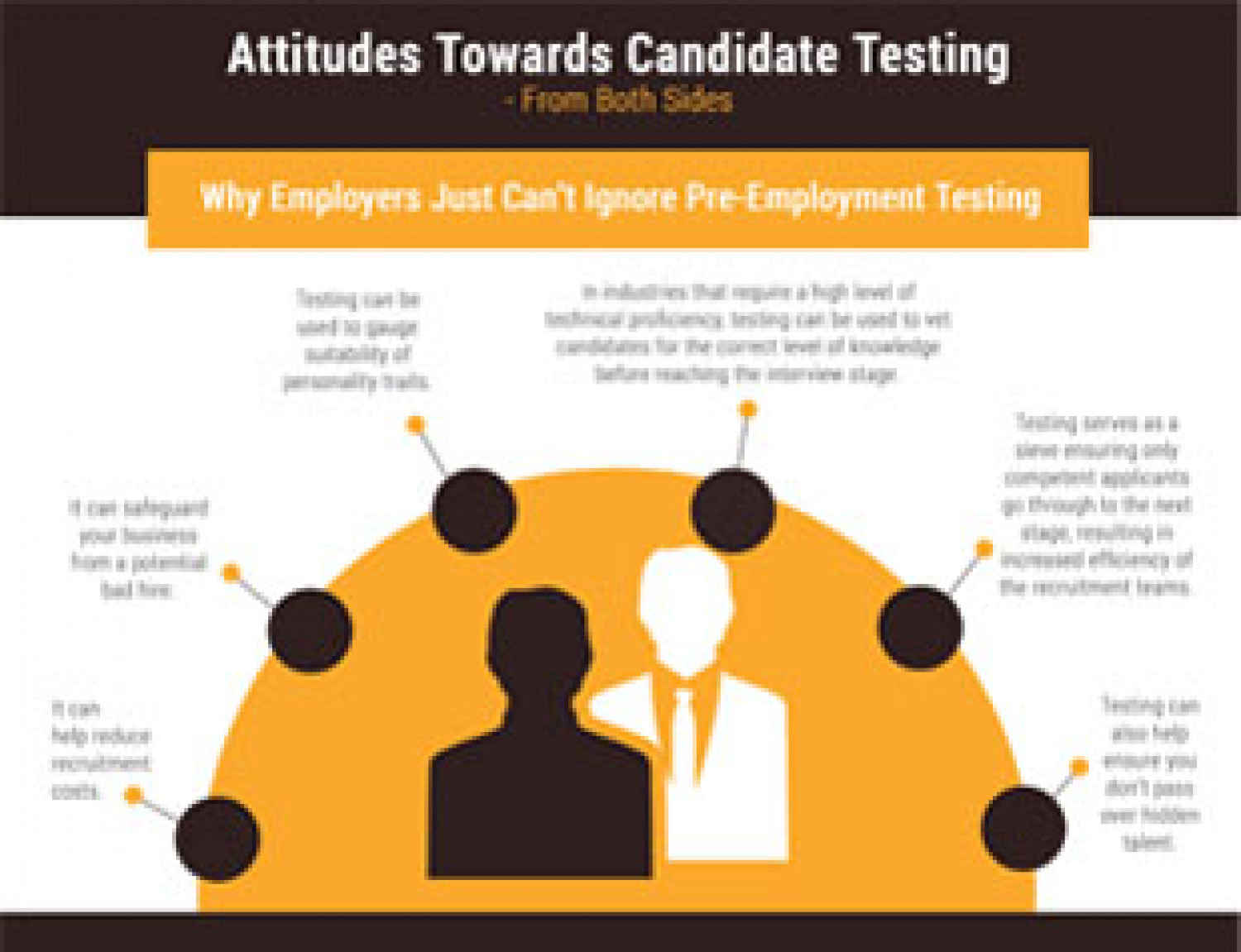 Attitudes Towards Candidate Testing Infographic