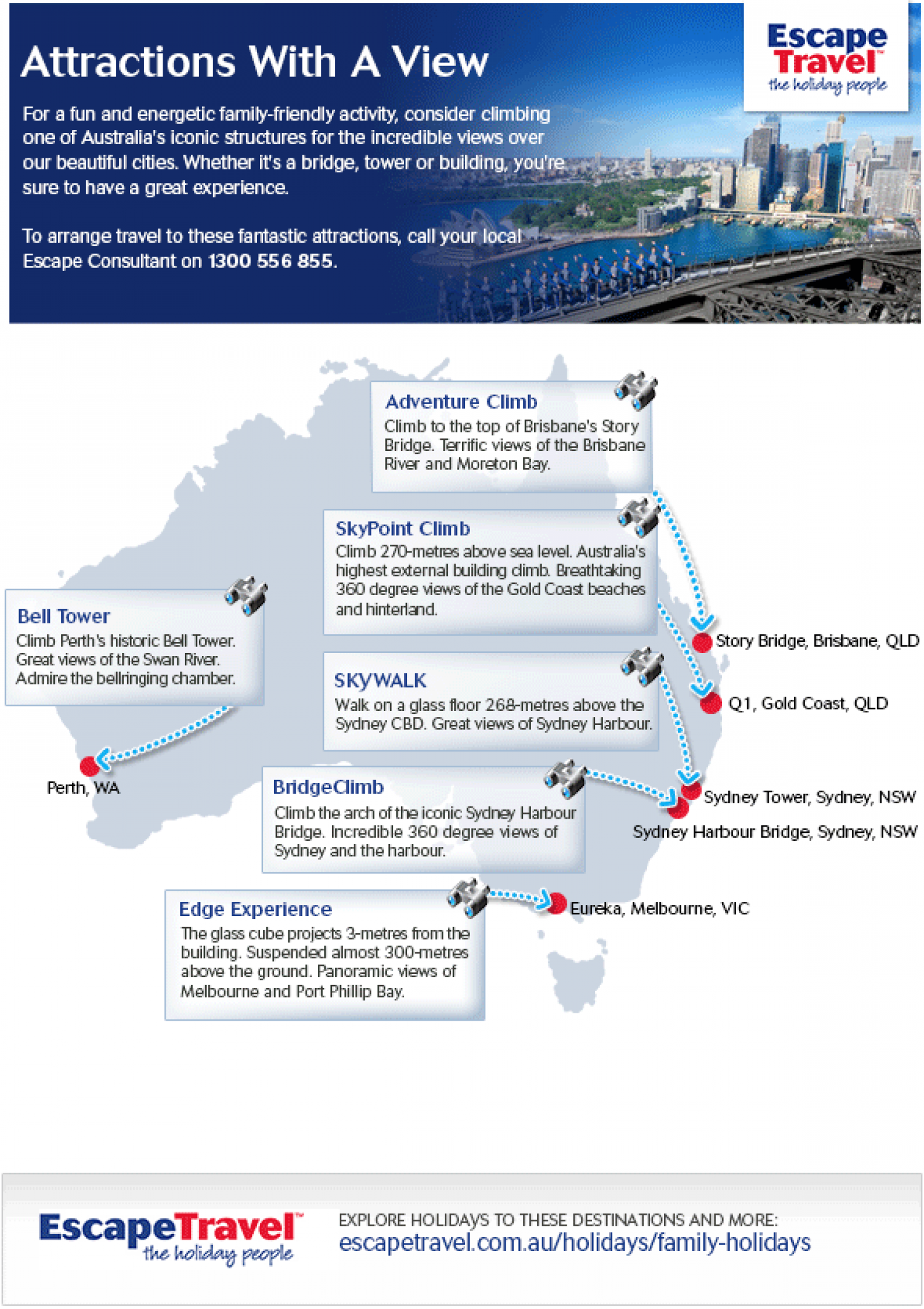 Attractions in Australia With A View Infographic