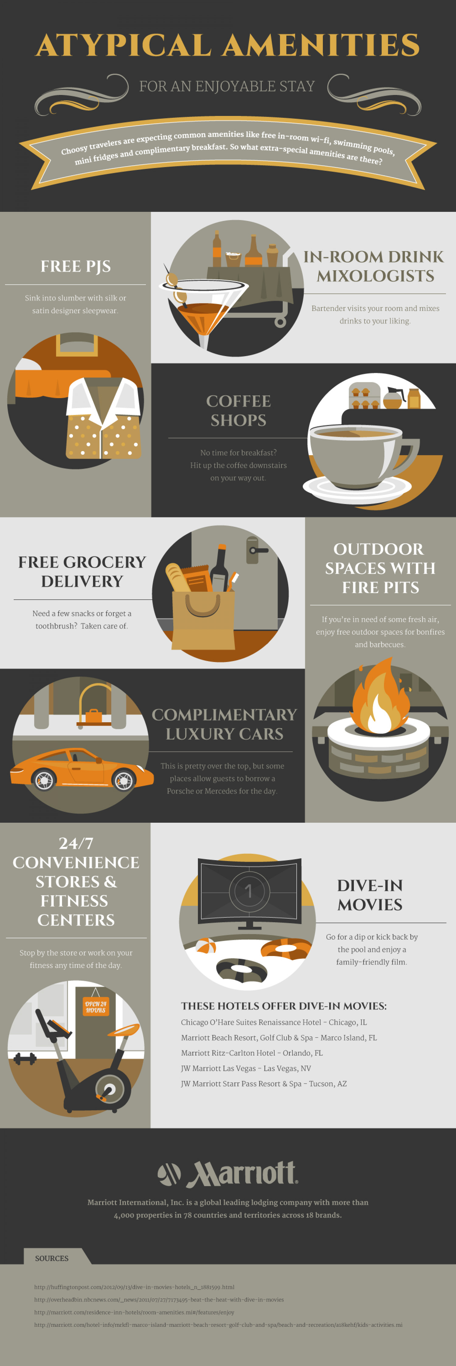 Atypical Amenities  Infographic
