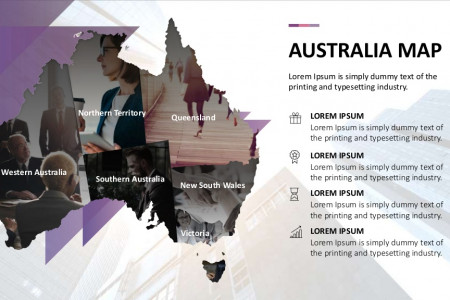 Australia Maps PowerPoint Template | Free Download Infographic