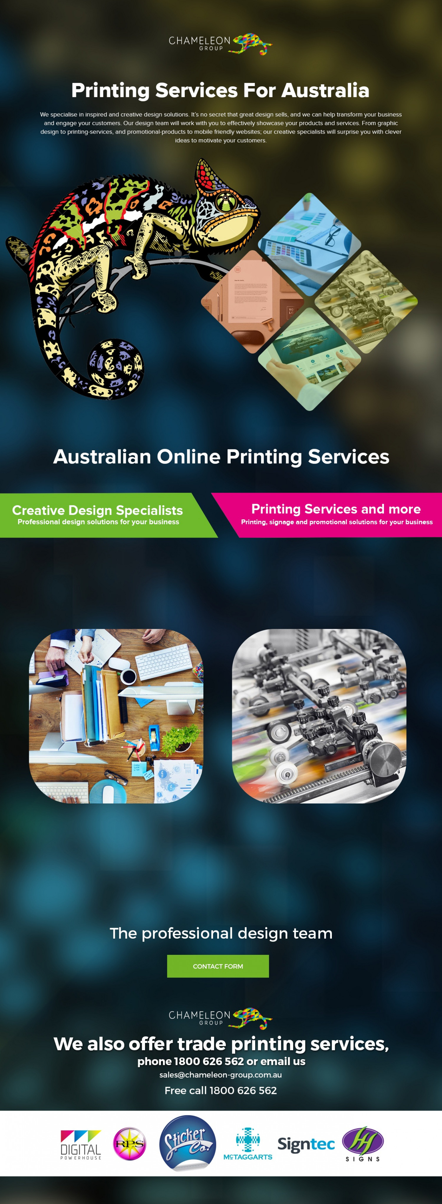 Australian Online Printing Services Infographic