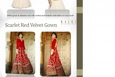 Authentic Bridal Gowns Collection By KalkiFashion Infographic