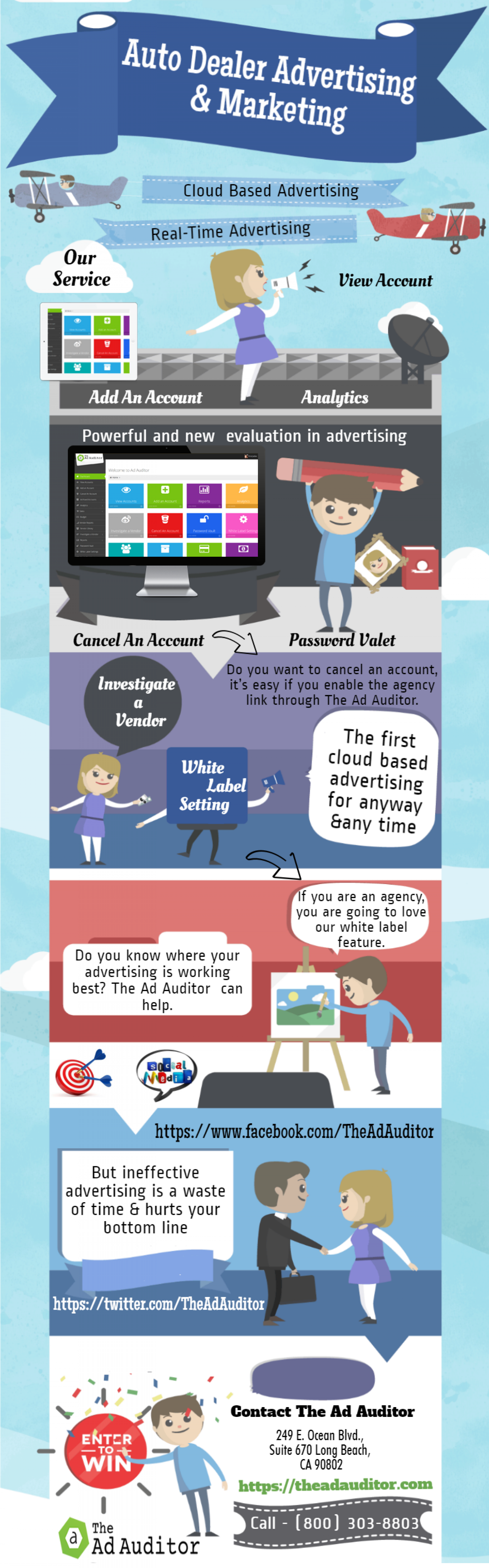 Auto Dealer Advertising and Marketing Infographic