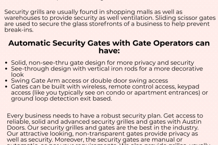 Automatic Security Gates Infographic