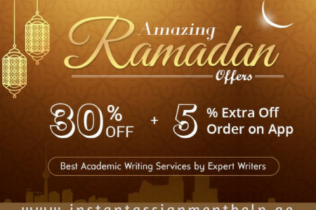 Avail exclusive 30% OFF on all writing orders this Ramadan Infographic