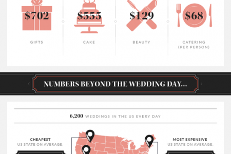 Average Cost of Weddings in the USA Infographic