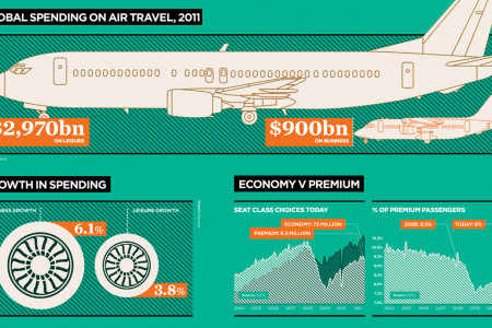 Aviation Statistics: Leisure vs Business Infographic