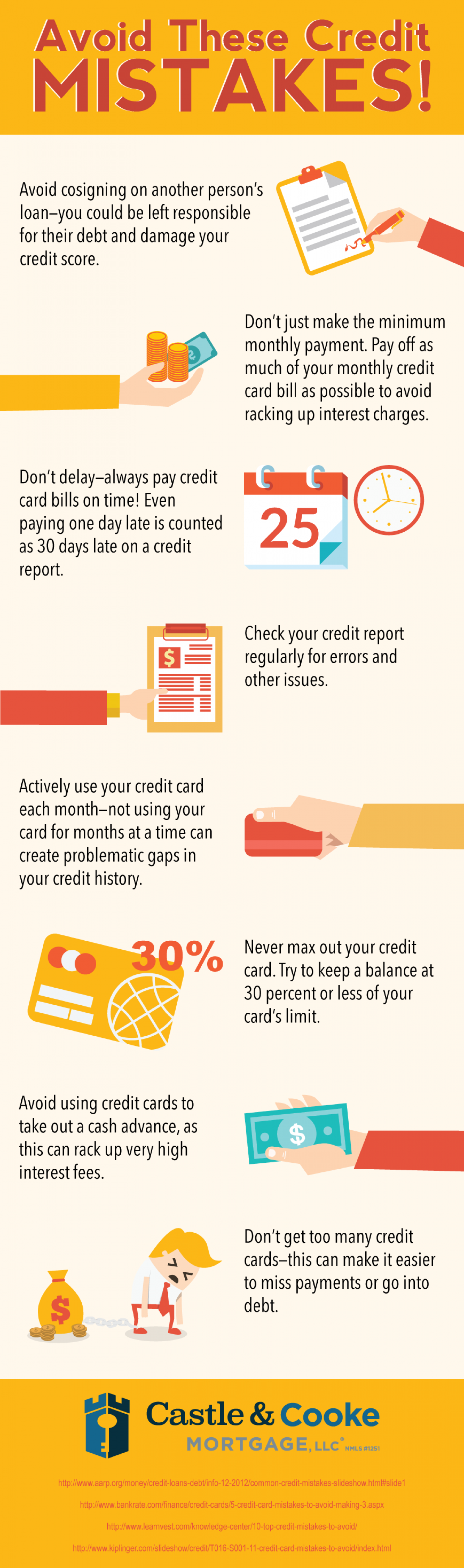 Avoid These Credit Mistakes! Infographic