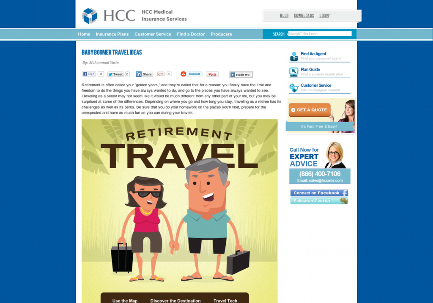 Baby Boomers Travel Guide Infographic